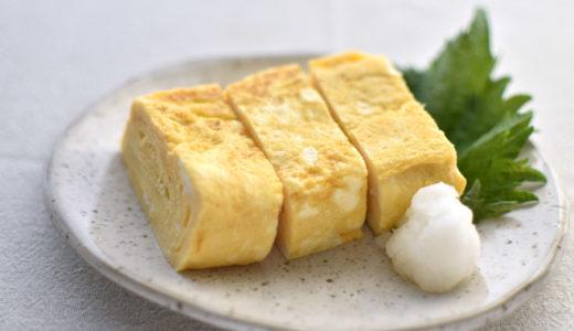 銅製卵焼き器で焼く だし巻き卵