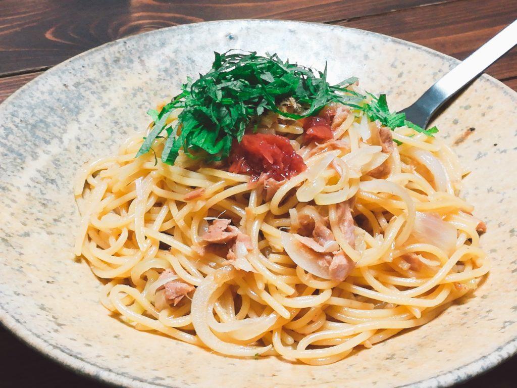 tuna pasta - ツナと大葉と梅の絶品パスタ