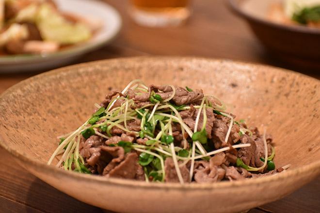 DSC 1843 - 辛味が引き立つ!かいわれ大根と牛肉の炒めもの