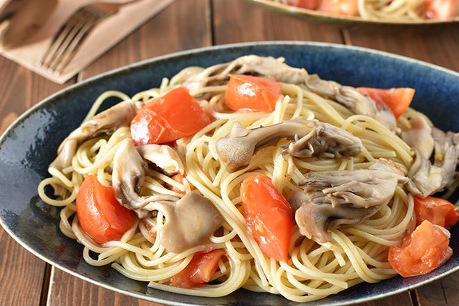 DSC 2379 1 - ごろごろトマトと 舞茸のスパゲッティ