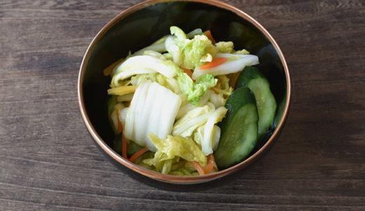 昆布茶だけで 白菜ときゅうりの浅漬け