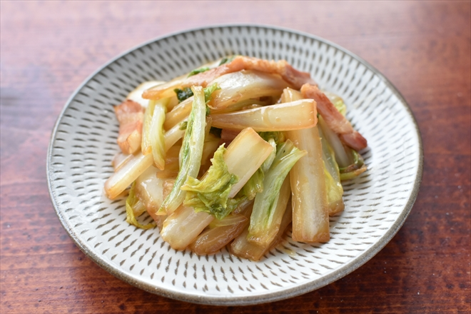 DSC 3267 R - 【水なし】白菜とベーコンの蒸し焼き
