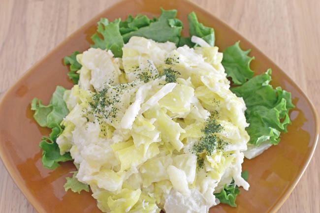 DSC 3749 - 【レンジで】 じゃが芋とキャベツの簡単マヨ和え
