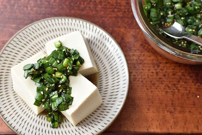 DSC 3855 - 【ニラ醤油】で ニラ豆腐