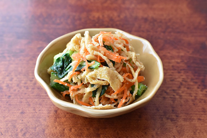 DSC 4186 - 【レンジで】切り干し大根と小松菜のごま和え
