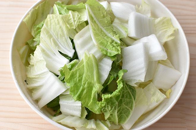DSC 4611 - 【白菜を切るだけ】白菜とツナのサラダ