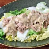 【白菜を切るだけ】白菜とツナのサラダ