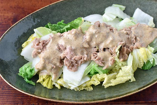 DSC 4625 - 【白菜を切るだけ】白菜とツナのサラダ