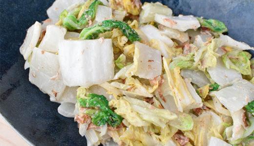 【レンジで】白菜だけ!和風コールスローサラダ
