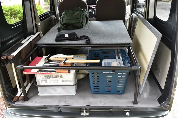 DSC 0007 2 R - 【車中泊】収納も兼ねたベッドキットを12,756円で自作!