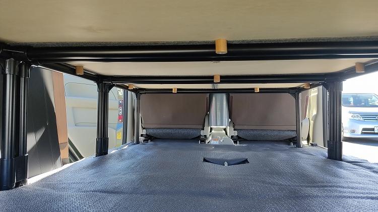 IMG 20200811 151724 R - 【車中泊】収納も兼ねたベッドキットを12,756円で自作!