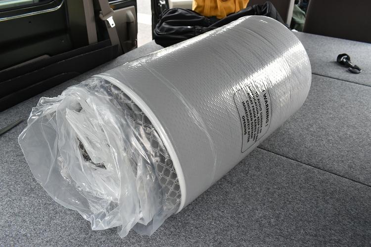 DSC 0003 R - 車中泊用のマットレスを購入【エブリイバンDIY】