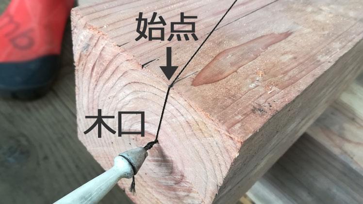 IMG 20201115 1252333 - 「墨を打つ」墨壺を使って長い直線を引く方法