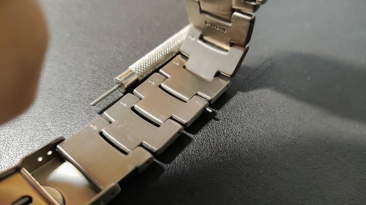 IMG 20201218 104707 - PRO TREKで実践。腕時計のベルト調整(メタルバンド)は簡単です。