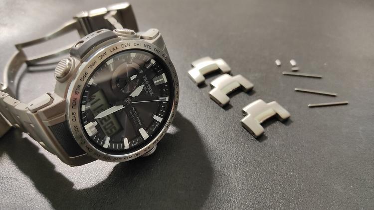 IMG 20201218 113206 - PRO TREKで実践。腕時計のベルト調整(メタルバンド)は簡単です。