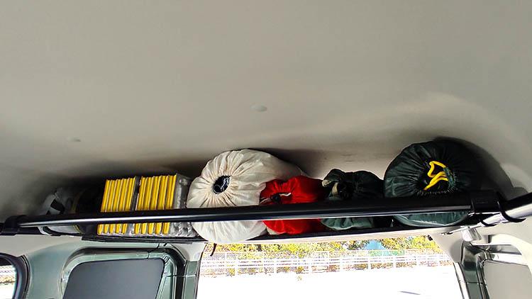 IMG 20210207 103933 - エブリイの天井に収納棚を自作!【エブリイバンDIY】