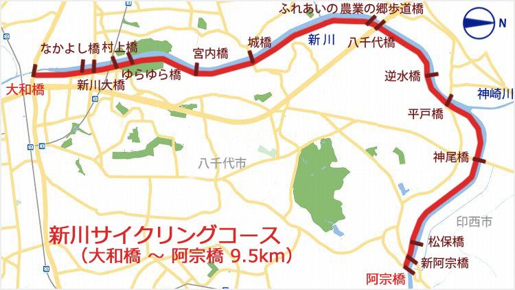 New sinkawa  a - 小晦日。なかよし橋 ~ 佐倉ふるさと広場 まで自転車で走る!