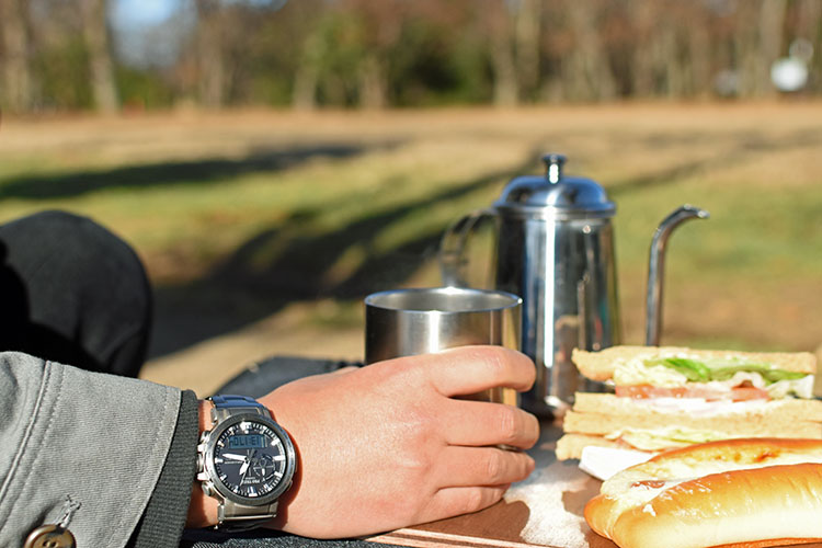 sDSC 0438 - アウトドアだけじゃない!ビジネスにも使える腕時計 PRO TREK『PRW-60T-7AJF』