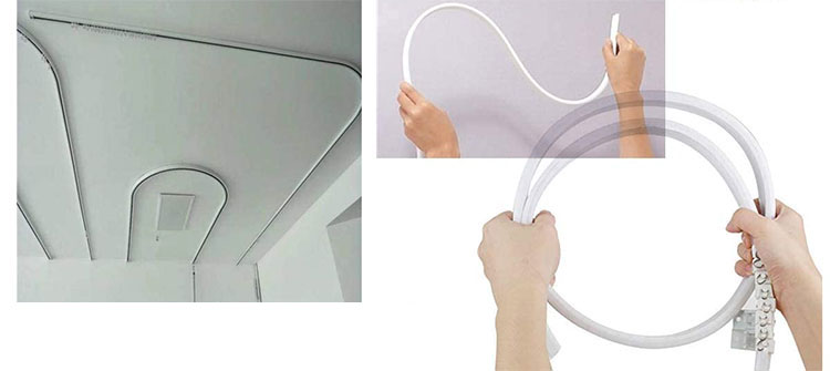 rail - 【車中泊】簡単!工具を一切使わずにカーテンを吊るす方法【エブリイバンDIY】