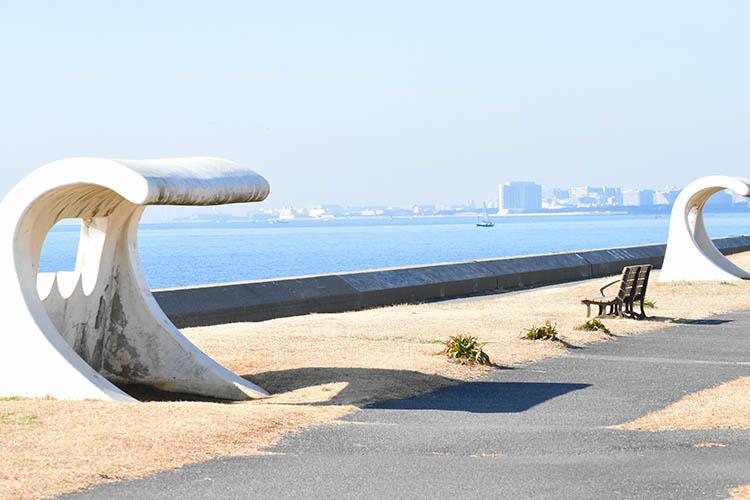 akanehama - 富士山をうっすら鑑賞。茜浜緑地の散歩コース(茜浜緑道~茜浜運動公園)を紹介