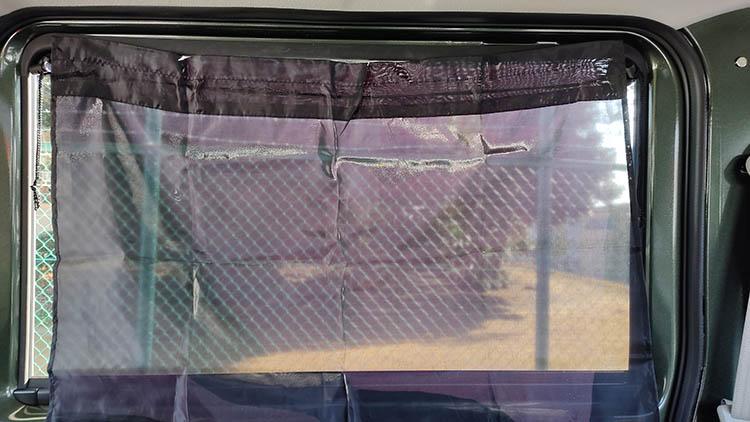 sunshade curtain2 - ダイソーのカーテンより『はぎれ』の方が透けなかった話。