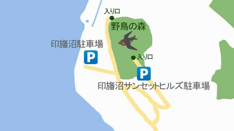 yatyou map3 - 秘密基地?佐倉市【野鳥の森】を散歩したら人にも鳥にも出会わなかった。