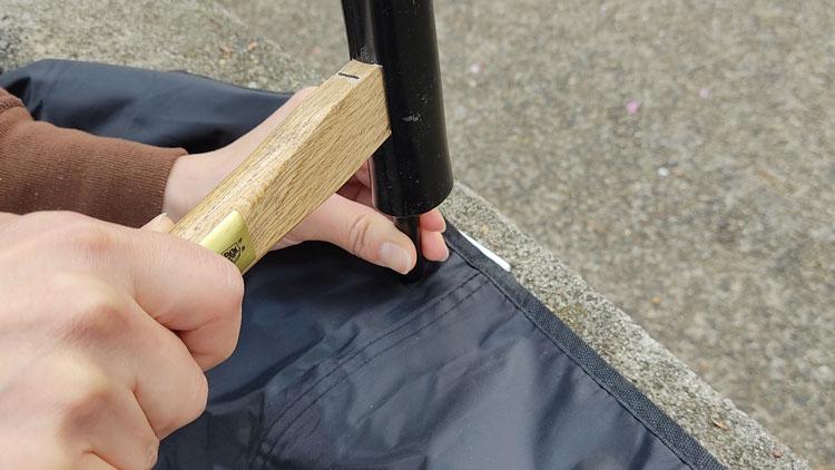 IMG 20210411 123002 - ハトメで簡単!グランドシートをサイドシート兼用にする方法。