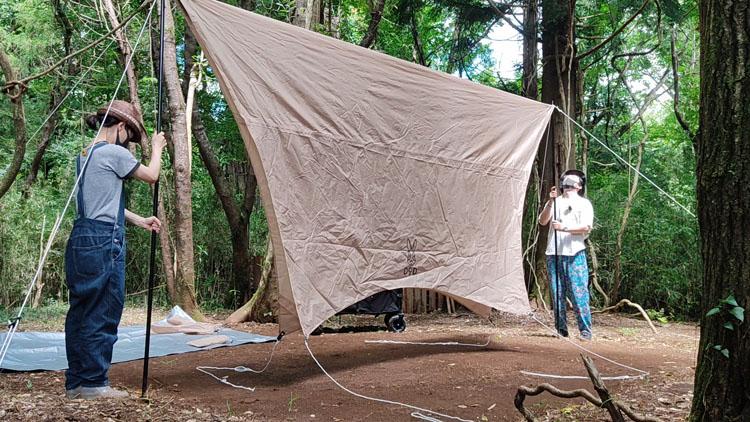 Snapshot 18 - 自力で雑木林を整地。プライベートキャンプ場でBBQを楽しむ!