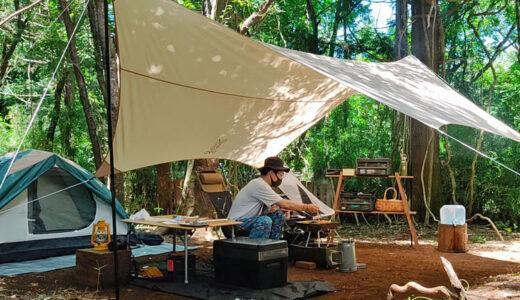 自力で雑木林を整地。プライベートキャンプ場でBBQを楽しむ!