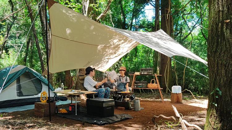 Snapshot 8 - 自力で雑木林を整地。プライベートキャンプ場でBBQを楽しむ!